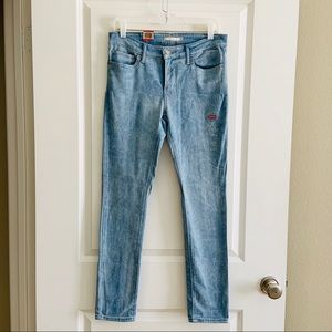 Levi's 711 NEW Marbled 30 Skinny Mid Rise Jeans